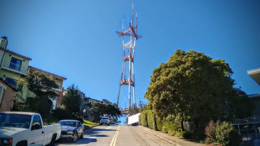 Sutro Tower from Glenbrook Avenue